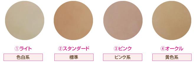 人工乳房の肌の色4色